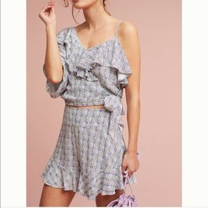 Anthropologie Ruffled Top and Bottom by Maeve